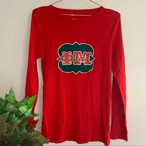 Phi Mu Christmas Long Sleeve Shirt - M